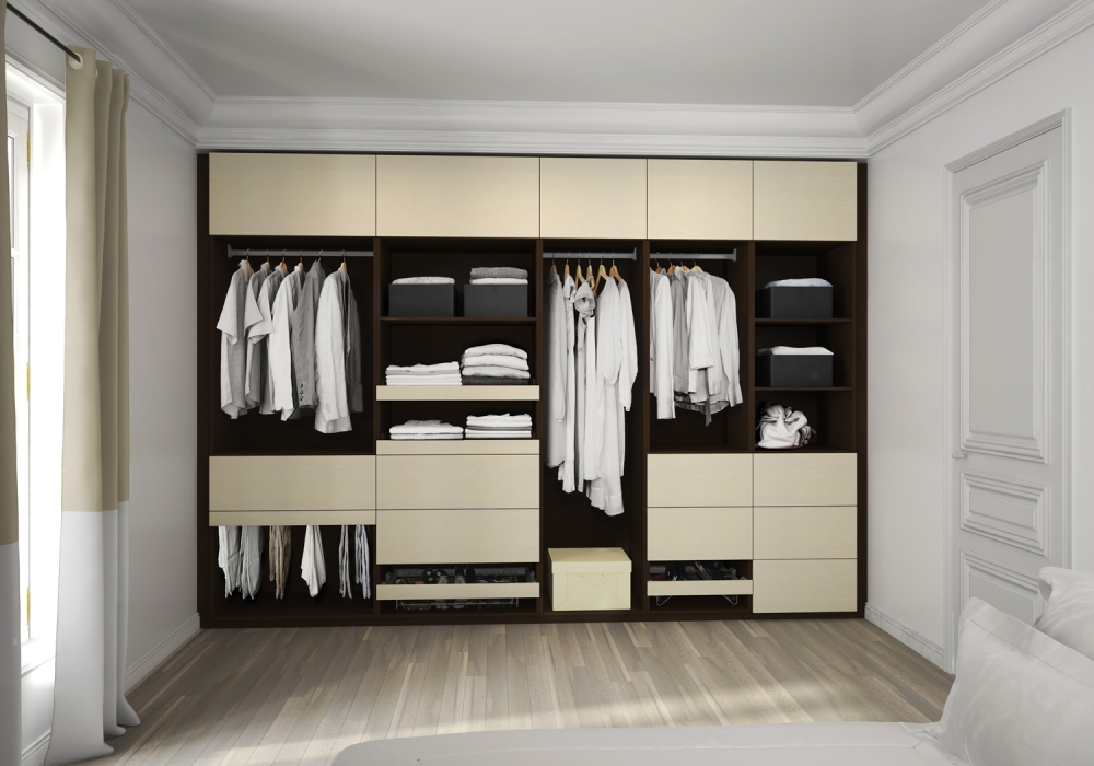 Dressing for Dressing moderne chambre des parent